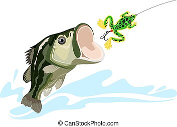 Bass and lure - bass and lure, predatory fish, big fishing,...
