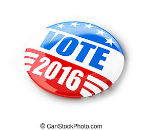 Vote election campaign badge button for 2016. 3d...