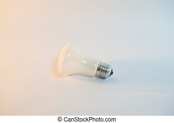Incandescent bulbs on a white background