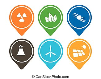 Energy icon set, abstract modern pictorgram for your design