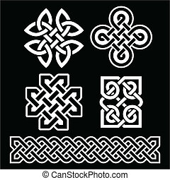 Celtic Irish patterns and braids on - Old traditional Celtic...