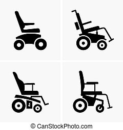 Self propelled wheelchairs - Set of four self propelled...