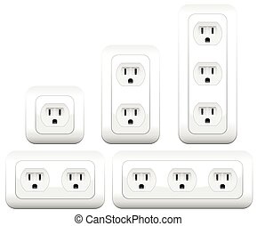 Sockets Outlets Variations Double - Socket variations -...