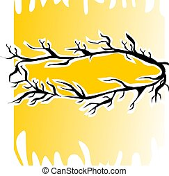 crown - Illustration of and crown of thorns in yellow...
