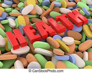 Pills and tablets Image with clipping path