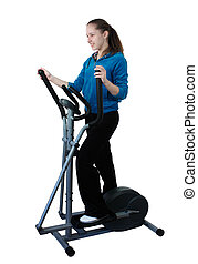 healthy lifestyle - girl on the simulator, a healthy...