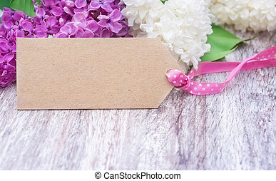 Greeting card with lilac