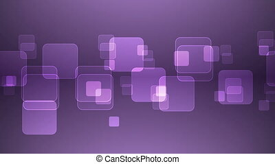 Overlapping Purple Squares - Abstract Overlapping...