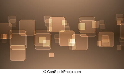 Overlapping Orange Squares. - Abstract Overlapping...