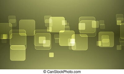 Overlapping Yellow Squares - Abstract Overlapping...