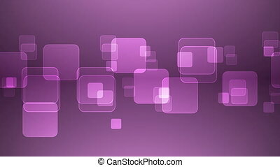 Overlapping Magenta Squares - Abstract Overlapping...