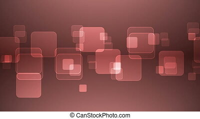 Overlapping Red Squares - Abstract Overlapping Rectangular...