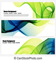 Abstract template banner - Abstract template horizontal...