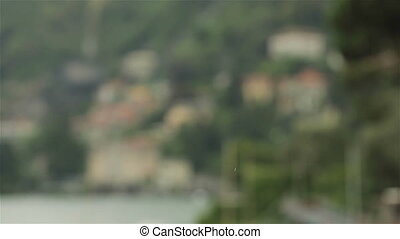 Small Italian town by Lake Como - Charming view of a small...