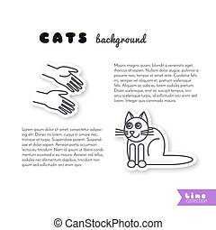Good hands for cat  background