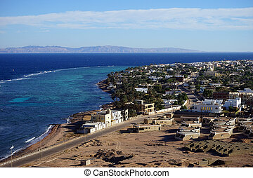 Dahab and Red sea - Dahab and coast of Red sea in Sinai,...