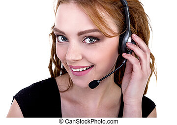 Call Center Support phone operator