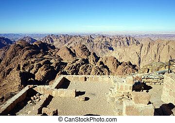 Mount Sinai - On the top of mount Sinai in Egypt...