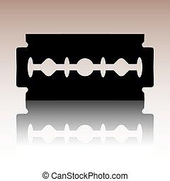 Vector razor blade icon - Razor blade icon. Black vector...