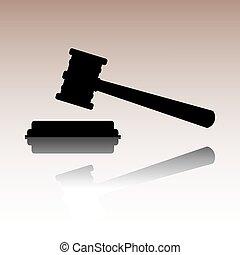 Justice hammer vector icon