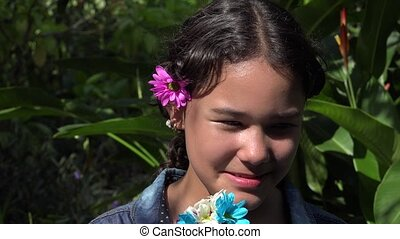 Latin Girl Laughing in Nature