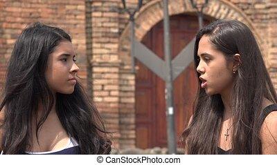 Teen Girls Having an Argument