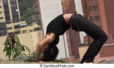 Teen Girl Performing Contortion