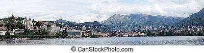 Embankment - LUGANO, SWITZERLAND - CIRCA AUGUST 2015...