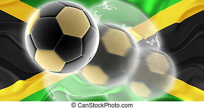 Flag of Jamaica wavy soccer website - Flag of Jamaica,...