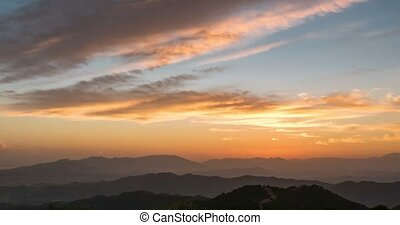 Sunset time lapse at Monte Malaga, Andalusia, Spain