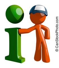Orange Man Postal Mail Worker Info Icon