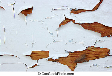 cracks - Old wooden painted surface with cracks