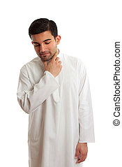 Ethnic man wearing traditional clothing - Middle eastern man...