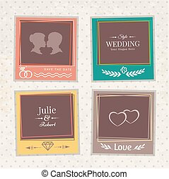 Vintage vector photo frames