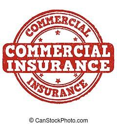 Commercial insurance stamp - Commercial insurance grunge...