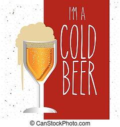 cold beer design - cold beer design, vector illustration...