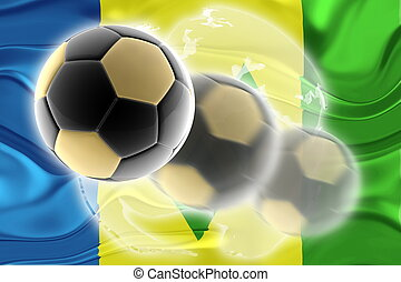 Flag of Saint Vincent and Grenadines wavy soccer website -...