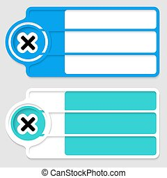 Colored boxes for your text and multiplication icon