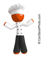 Orange Man Chef Confused