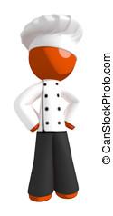 Orange Man Chef Hands on Hips