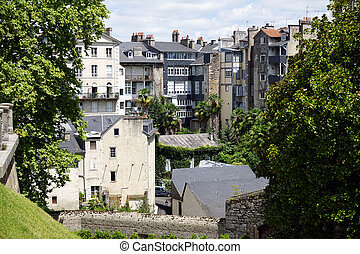 Residential district - PAU, FRANCE - CIRCA JULY 2015...