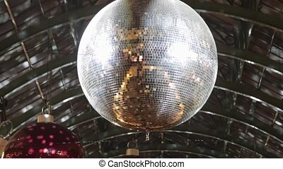 Disco Ball Night - Christmas Decoration With Disco Ball and...