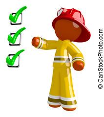 Orange Man Firefighter Safety Checklist