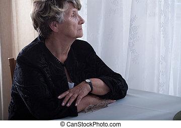 Elderly lonely widow missing - Photo of elderly lonely widow...