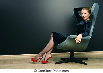 comfort business - Portrait of a stunning fashionable model...