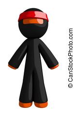 Orange Man Ninja Warrior Standing