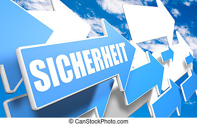 Sicherheit -german word for safety or security - 3d render...