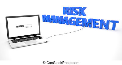 Risk Management - laptop notebook computer connected to a...