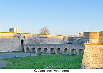 Main gate and bridge - Citadel of Pamplona constructed...