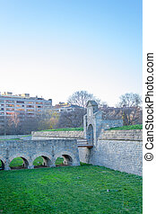 Main gate of the citadel - Citadel of Pamplona constructed...